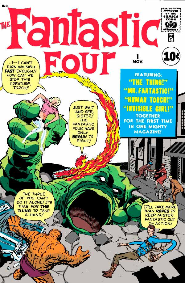 Fantastic Four #1, marvel комікс, комікси на українській, Фантастична четвірка комікси