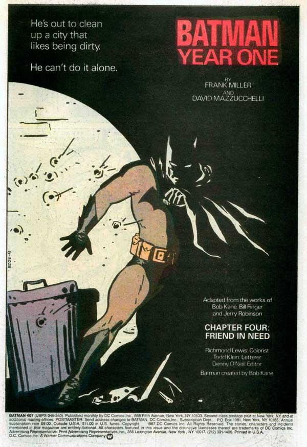 Batman: Year One, комікси, читати українською мовою комікси