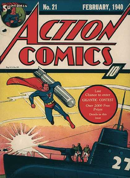 Action Comics #21, історія коміксів укранїнською, история комиксов, экшн комиксы история
