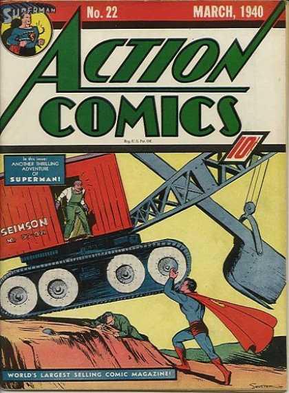 Action Comics #22, історія коміксів укранїнською, история комиксов, экшн комиксы история
