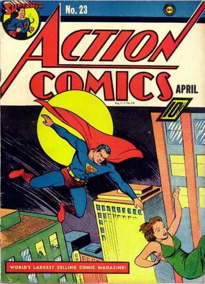 Action Comics #23, історія коміксів укранїнською, история комиксов, экшн комиксы история