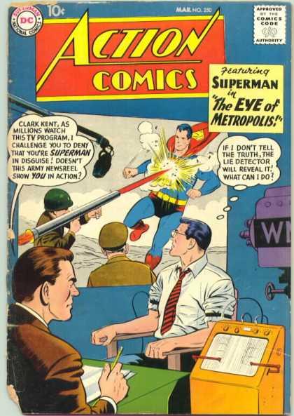 Action Comics #250, срібний вік коміксів, історія коміксів укранїнською, история комиксов, экшн комиксы история