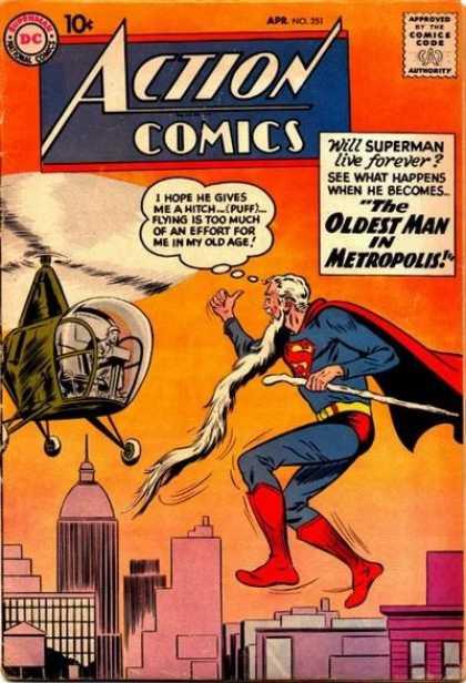 Action Comics #251, срібний вік коміксів, історія коміксів укранїнською, история комиксов, экшн комиксы история