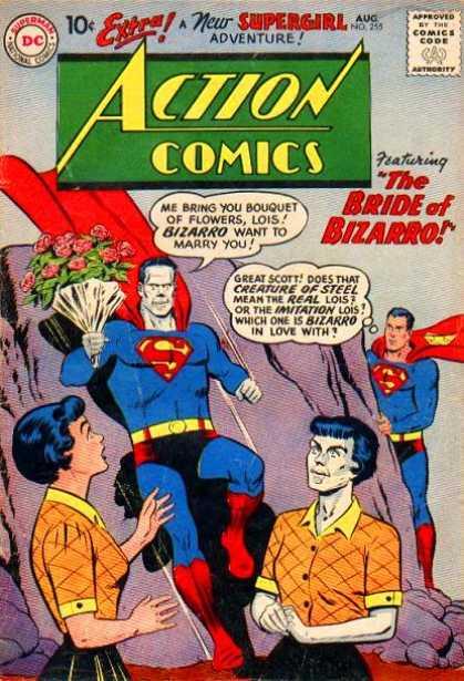 Action Comics #255, срібний вік коміксів, історія коміксів укранїнською, история комиксов, экшн комиксы история