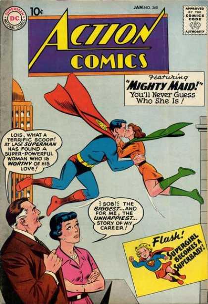 Action Comics #260, срібний вік коміксів, історія коміксів укранїнською, история комиксов, экшн комиксы история