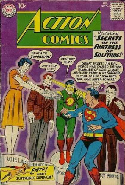 Action Comics #261,срібний вік коміксів, історія коміксів укранїнською, история комиксов, экшн комиксы история