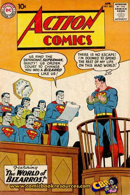 Action Comics #263,срібний вік коміксів, історія коміксів укранїнською, история комиксов, экшн комиксы история