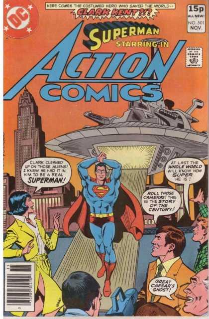 Action Comics #501, історія коміксів укранїнською, история комиксов, экшн комиксы история, бронзовый век комиксов