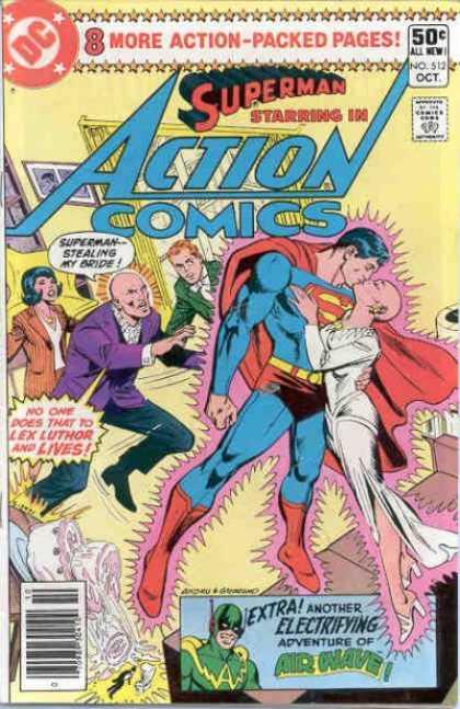 Action Comics #512, історія коміксів укранїнською, история комиксов, экшн комиксы история, сребный век комиксов