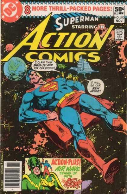 Action Comics #513, історія коміксів укранїнською, история комиксов, экшн комиксы история, сребный век комиксов