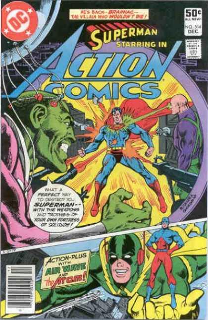 Action Comics #514, історія коміксів укранїнською, история комиксов, экшн комиксы история, сребный век комиксов