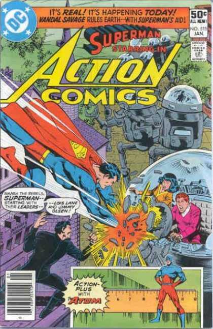 Action Comics #515, комікси про супермена, історія коміксів, история комиксов