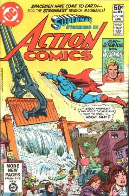Action Comics #518, комікси про супермена, історія коміксів, история комиксов
