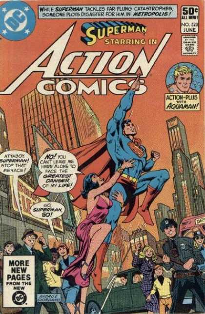 Action Comics #520, комікси про супермена, історія коміксів, история комиксов