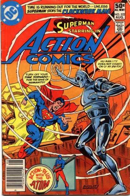 Action Comics #522, комікси про супермена, історія коміксів, история комиксов