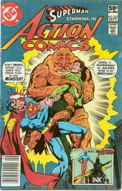 Action Comics #523, комікси про супермена, історія коміксів, история комиксов