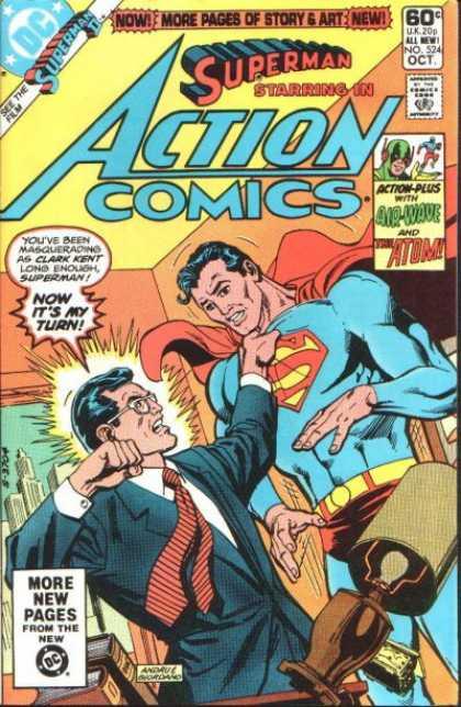 Action Comics #524, комікси про супермена, історія коміксів, история комиксов