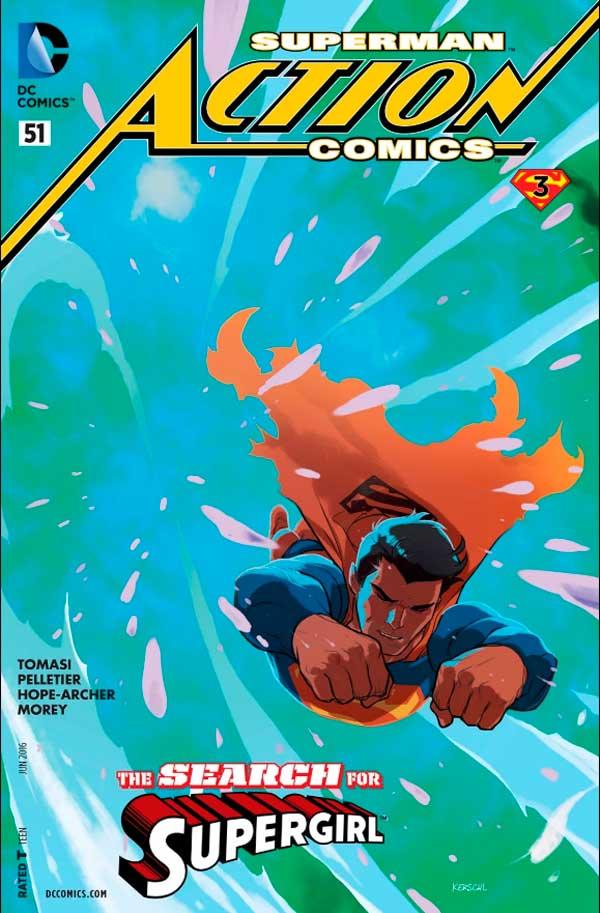 Action Comics Vol 2 50, комікси супермен, людина зі сталі, комікси дс