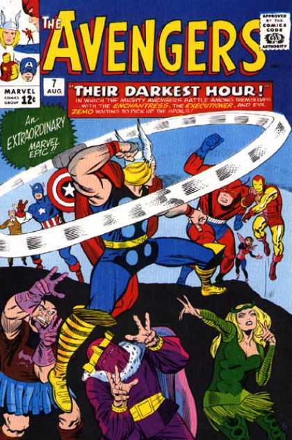 Avengers #7, Месники, Капітан Америка, комікси Марвел