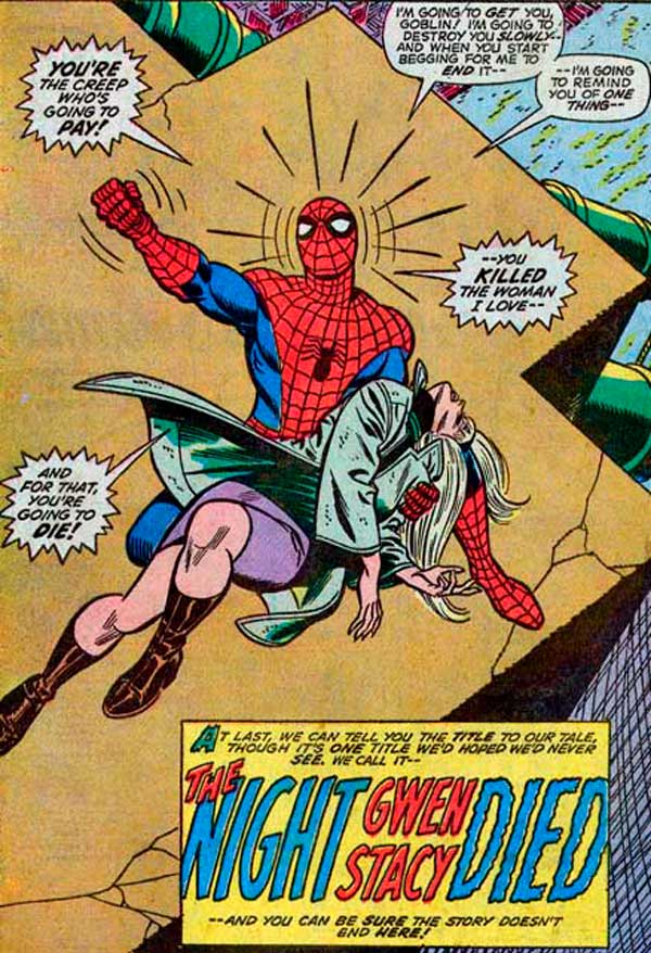The Night Gwen Stacy Died, The Amazing Spider-Man #121—122, людина-павук, комиксы про человека-паука