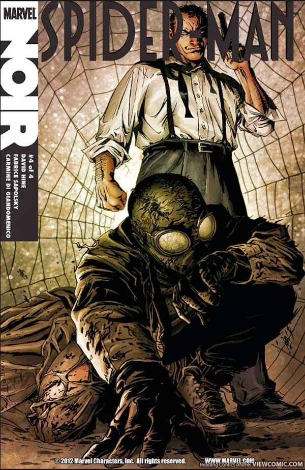 Spider-Man-Noir #4, Человек паук Нуар, Людина павук нуар