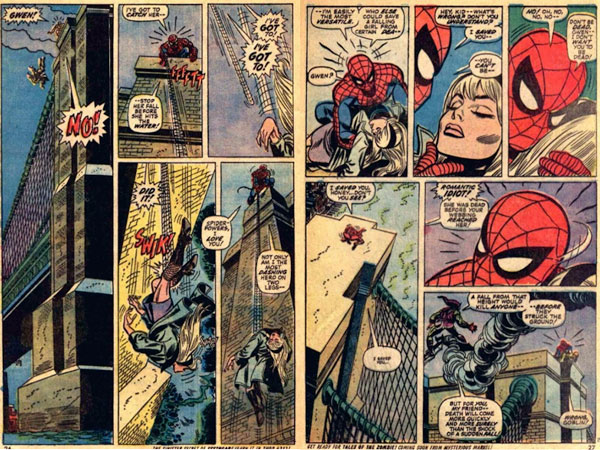 The Amazing Spider-Man #121–122 (The Night Gwen Stacy Died), комікси про Людину Павука