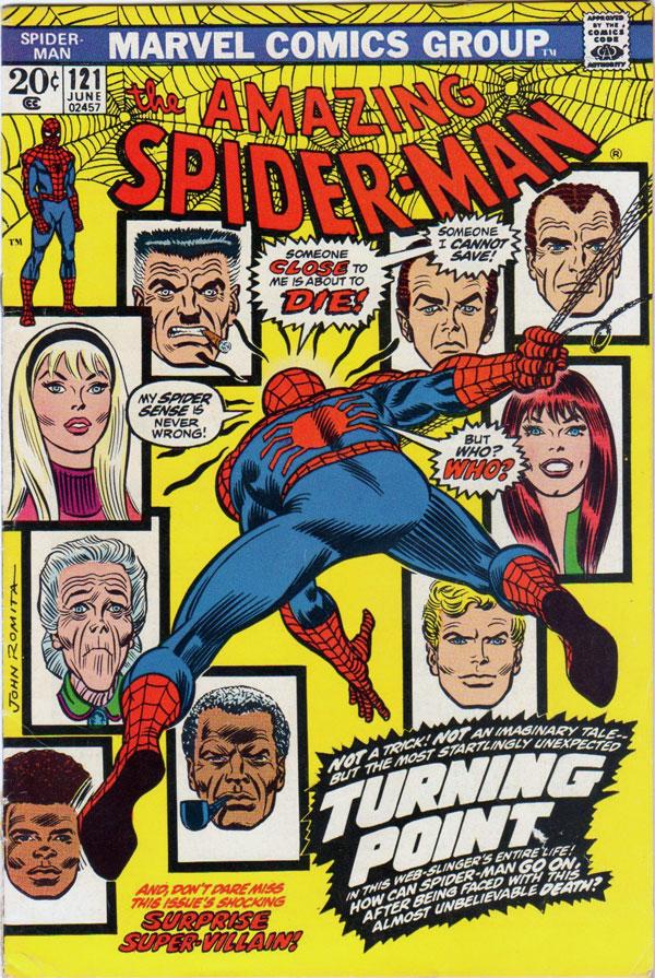 The Amazing Spider-Man #121 (The Night Gwen Stacy Died) комиксы человек паук ночь когда гвен умерла