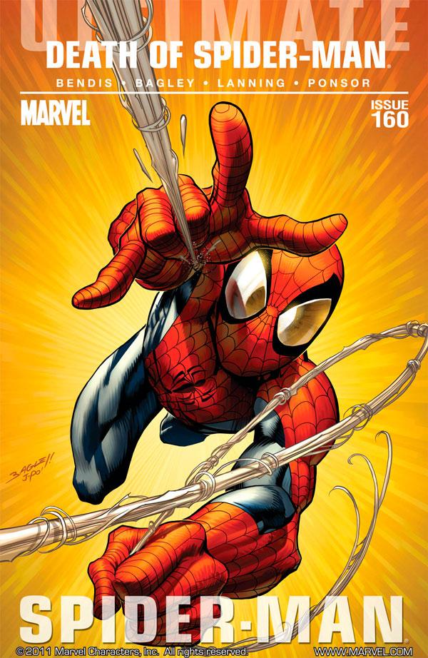 Ultimate Spider-Man #160,смерть людини павука, комікси про Людину Павука