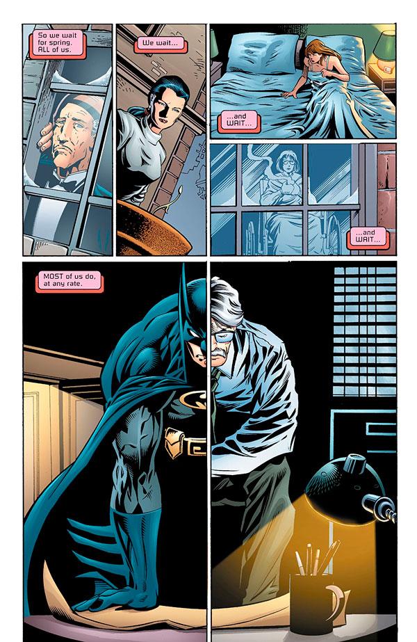 Batman: No Man's Land, Джим Гордон та Сара Ессенс, комікси про Бетмена, комісар Джеймс Гордон, бетмен нічия земля