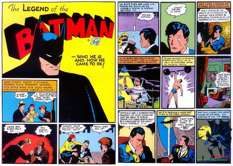 Batman #1 - The Legend of the Batman, Бетмен комікси українською, Темний Лицар комікси