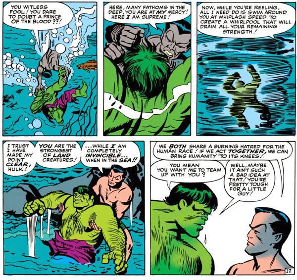 The Avengers #3 - The Avengers Meet Sub-Mariner, комікси про Месників, Халк