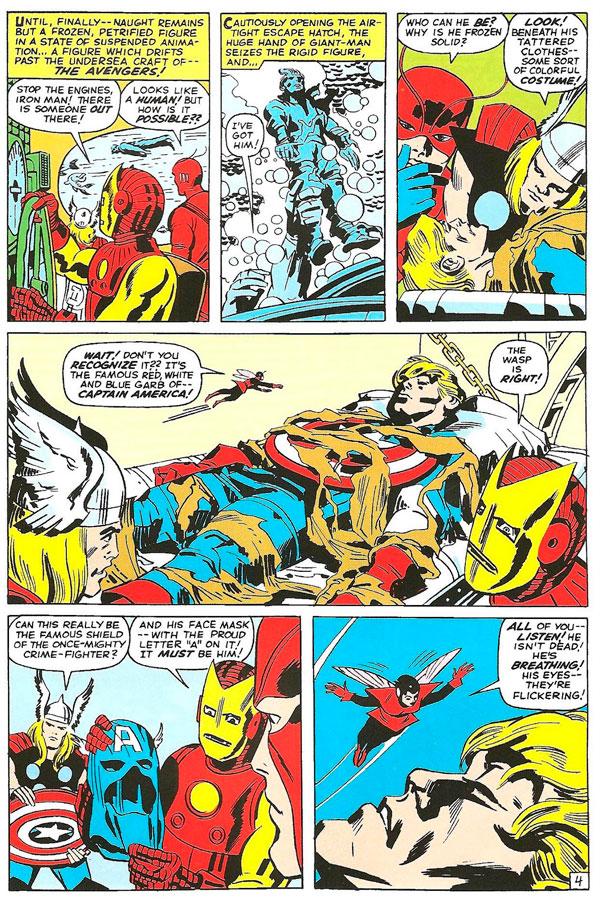 The Avengers #4 - Captain America Joins the Avengers, комікси про Месників українською, Капітан Америка та Месники