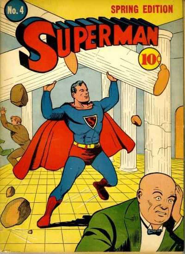Superman #4, комікси про супермена, перший випуск коміксів про супермена