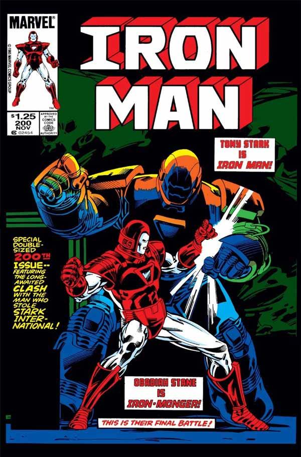 Iron Monger Saga (Iron Man Vol. 1 #190-200), комікси Залізна Людина, Тоні Старк Марвел комікси