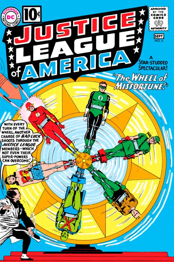 Justice League of America #6 - The Wheel of Misfortune!, комікси Чудо-ЖІнка, комікси ДС