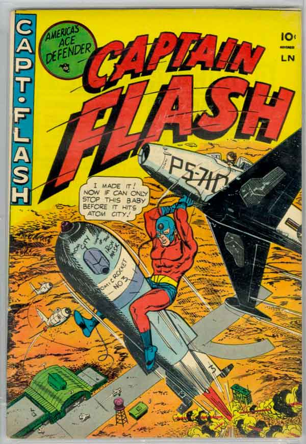 Captain Flash #1 (1954), комікси Captain Flash, Капітан Флеш, Видавництво Стерлінг, Стрібний Вік Коміксів