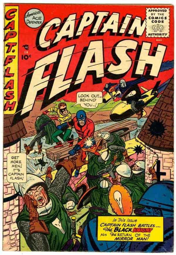 Captain Flash #2 (1955), комікси Captain Flash, Капітан Флеш, Видавництво Стерлінг, Стрібний Вік Коміксів