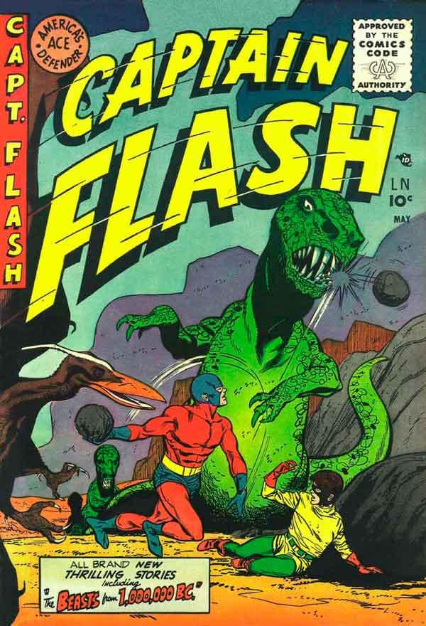 Captain Flash #3 (1955), комікси Captain Flash, Капітан Флеш, Видавництво Стерлінг, Стрібний Вік Коміксів