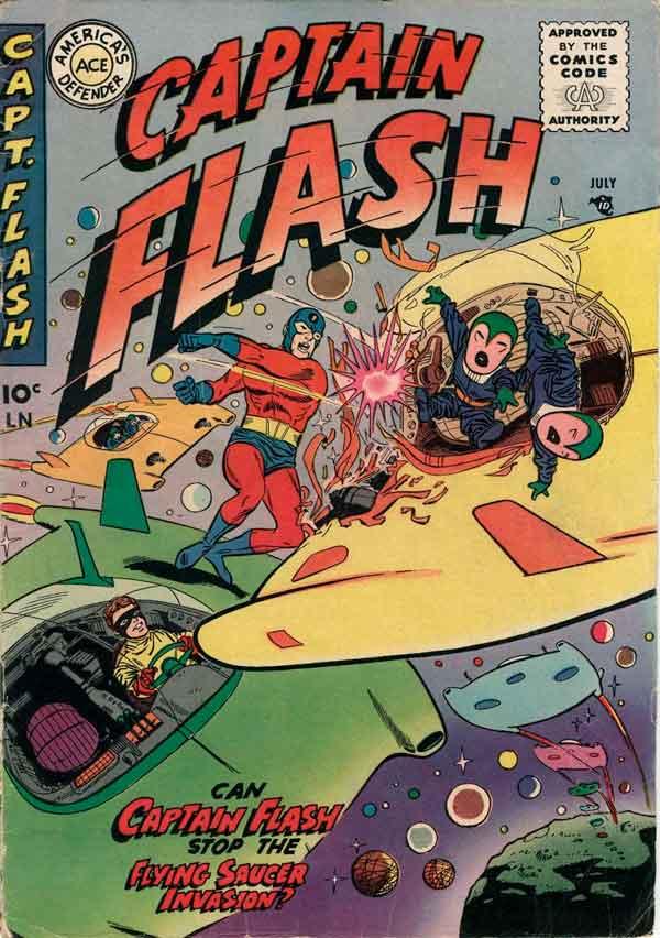 Captain Flash #4 (1955), комікси Captain Flash, Капітан Флеш, Видавництво Стерлінг, Стрібний Вік Коміксів